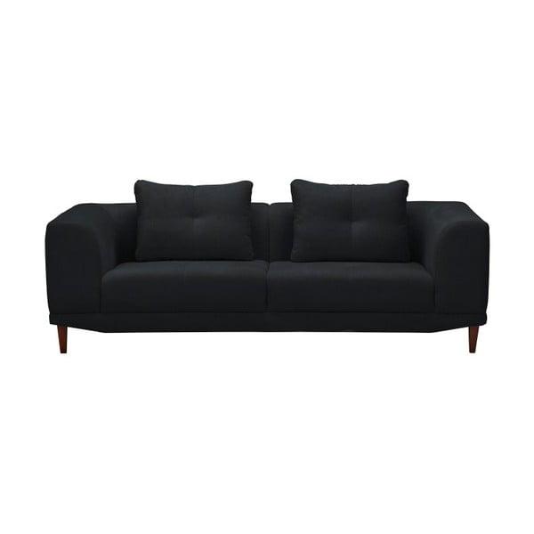 Černá trojmístná pohovka Windsor & Co Sofas Sigma