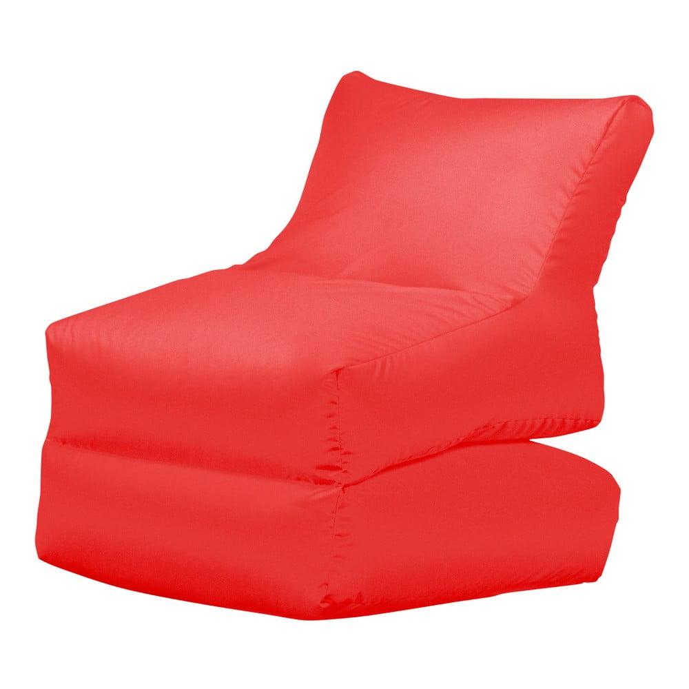 Červené skládací lehátko Sit and Chill Lato