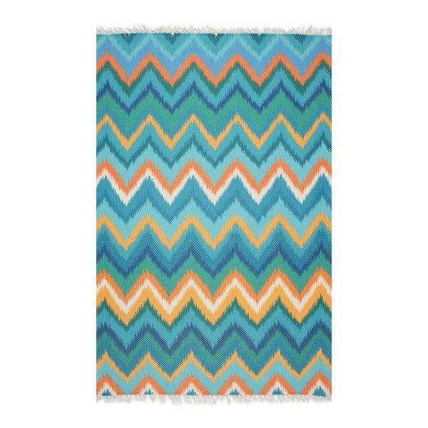 Tyrkysový koberec Eco Rugs Tribe, 80x150cm