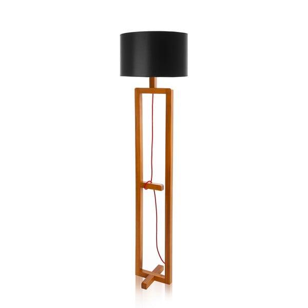 Stojací lampa Dal Black  Walnut