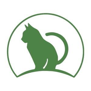 Zelená kovová nástěnná dekorace Wall Decor Miss Cat