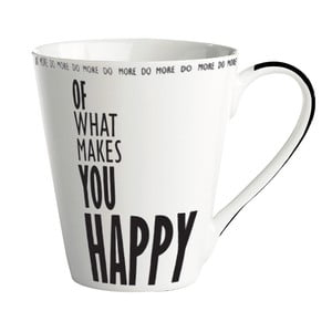 "Porcelánový hrnek ""Do more of what makes you happy"""