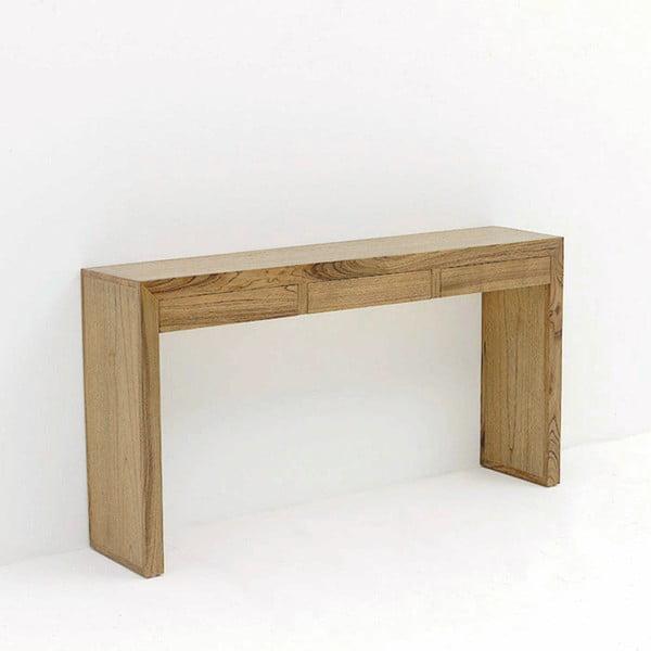 Hnědý dřevěný konzolový stolek Thai Natura, 140 x 75 cm