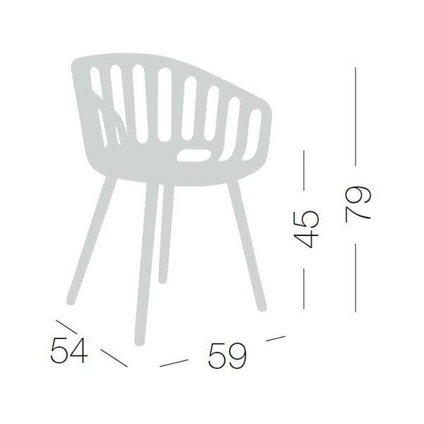 Bílá židle Basket, dřevěné nohy