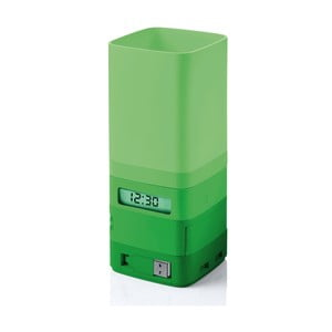 Multifunkční stojánek na tužky/hodiny/lepící pásku, zelený
