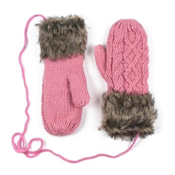 Růžové rukavice Dolores