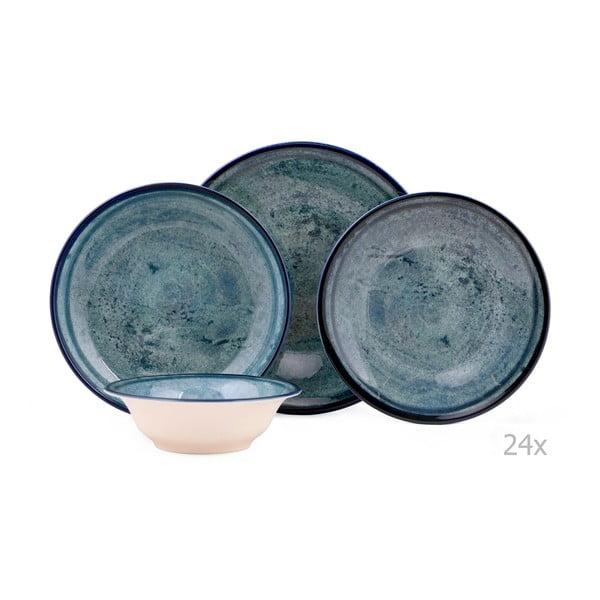 Mulio 24 db-os kék porcelán étkészlet - Kutahya