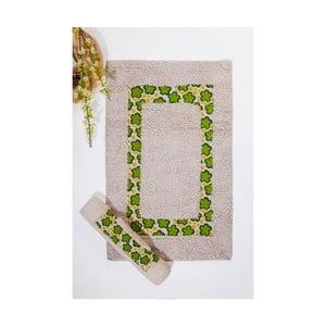 Set koupelnových předložek Cicek, Cream Green