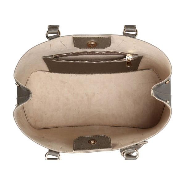 Geantă din piele ecologică Beverly Hills Polo Club Mona, gri-maro