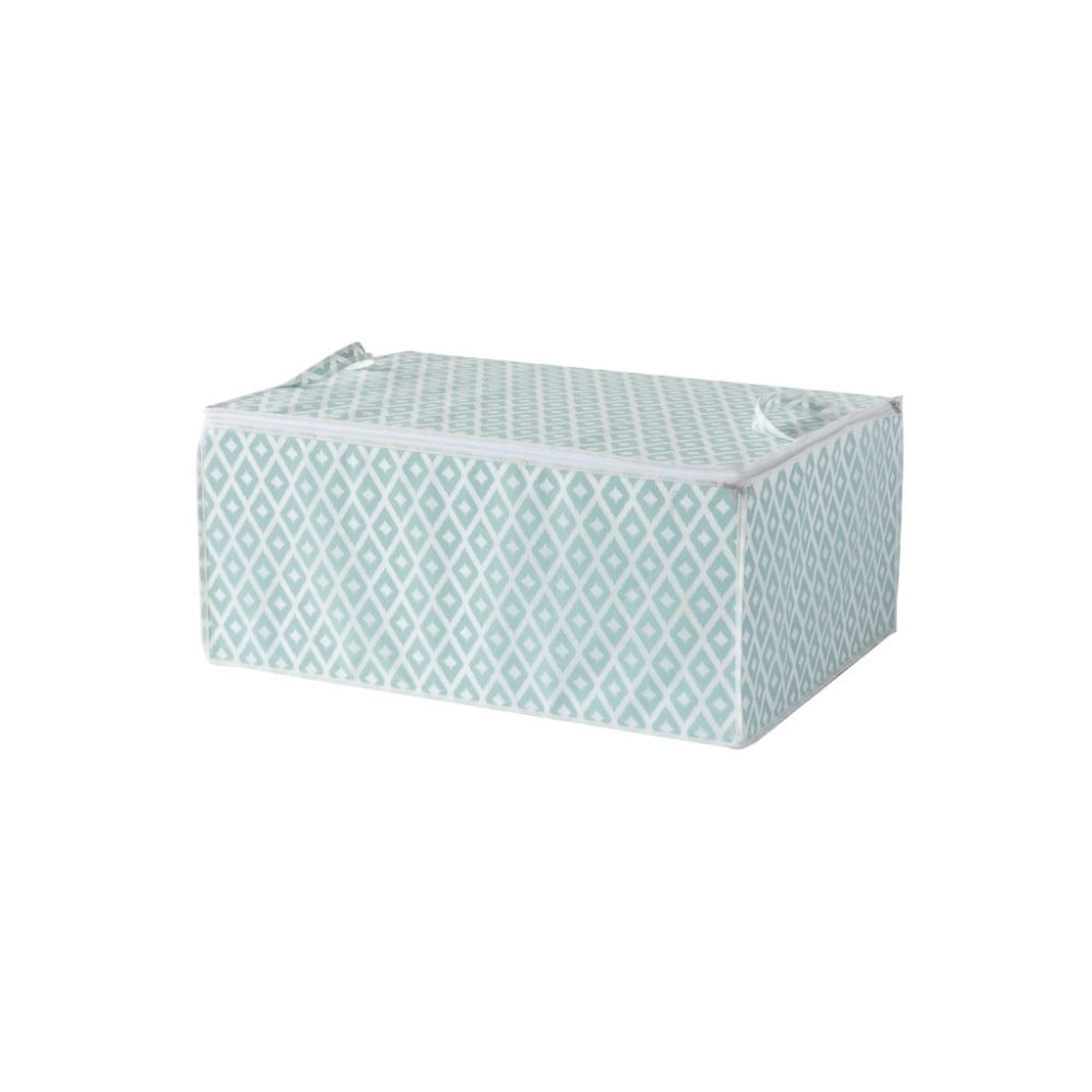 Zelený úložný box na peřinu Compactor, délka 70 cm