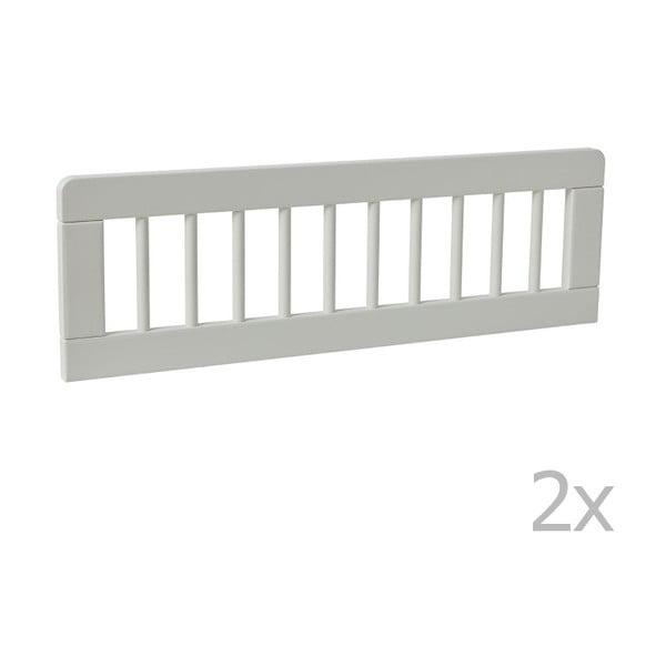 Sada 2 bílých zábran k dětské postýlce Pinio Basic, 160 x 70 cm