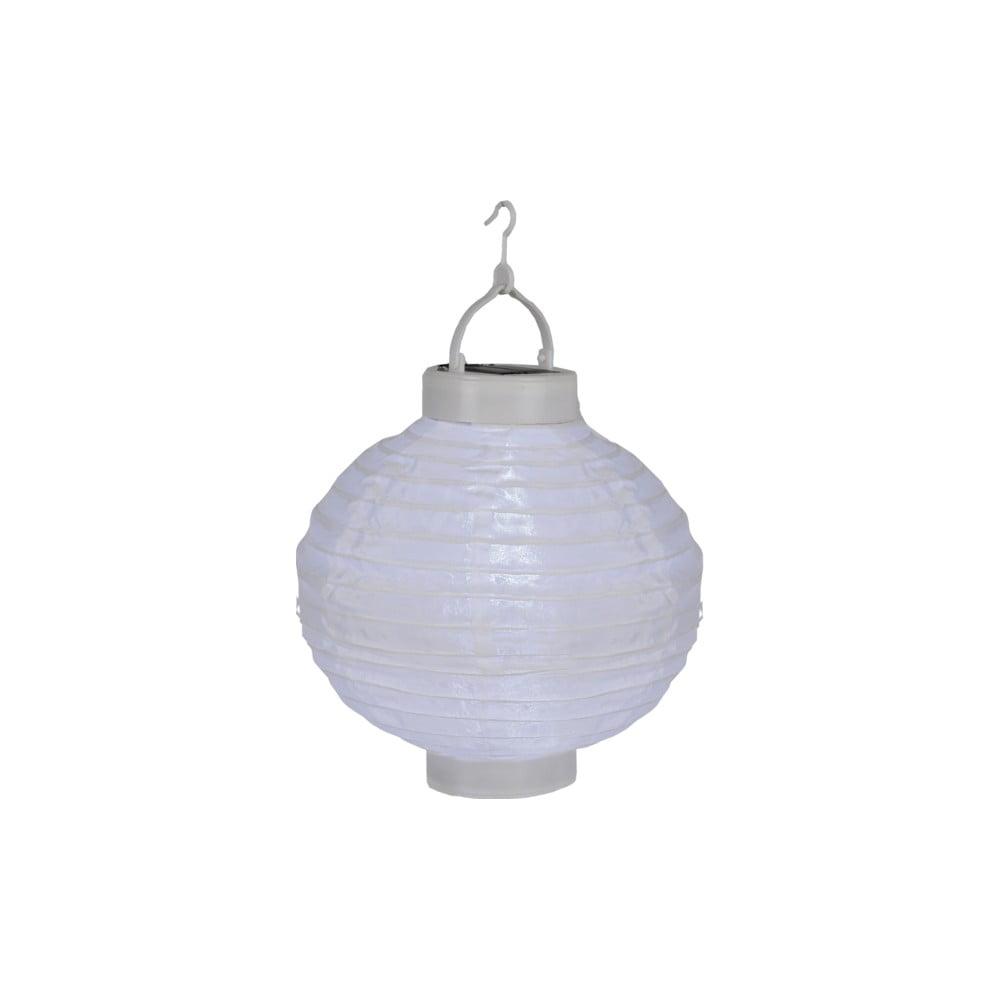 Bílý venkovní solární LED lampion Best Season Summer, ø 30 cm