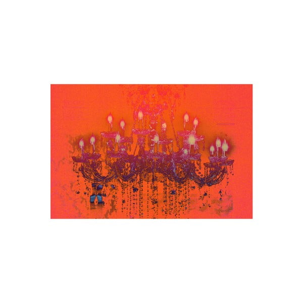 Obraz Liquid Chandelier Orange, 61 x 91 cm