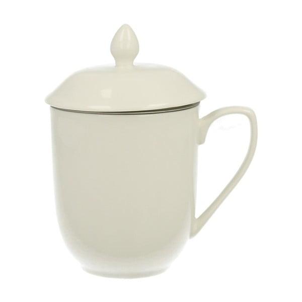 Bílý porcelánový hrnek s filtrem Duo Gift, 230 ml