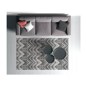 Černo-bílý koberec Oyo home Suzzo Cissmoneto, 140 x 220 cm