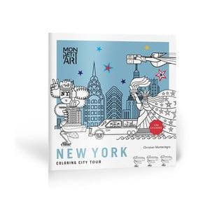 Omalovánky se samolepkami Mon Petit Art City Tour New York