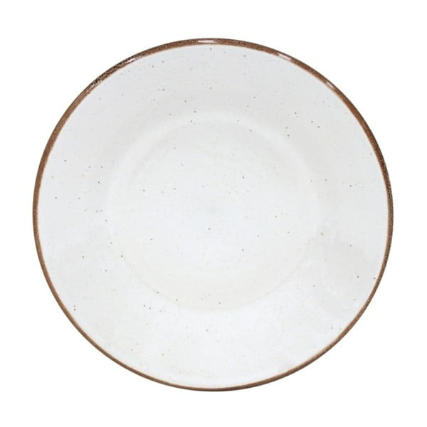 Biały talerzyk deserowy z kamionki Casafina Sardegna, ⌀ 24 cm