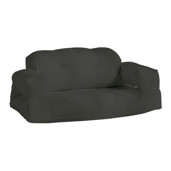 Tmavě šedá rozkládací pohovka vhodná doexteriéru Karup Design Design OUT™ Hippo Dark Grey