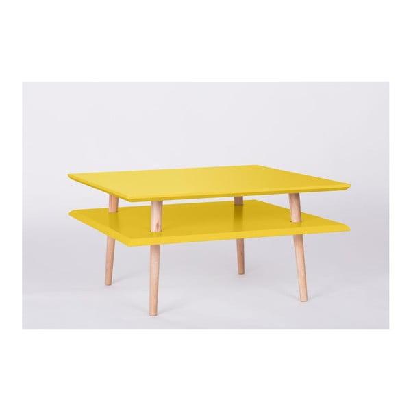Konferenční stolek UFO Square Yellow, 68 cm (šířka) a 35 cm (výška)