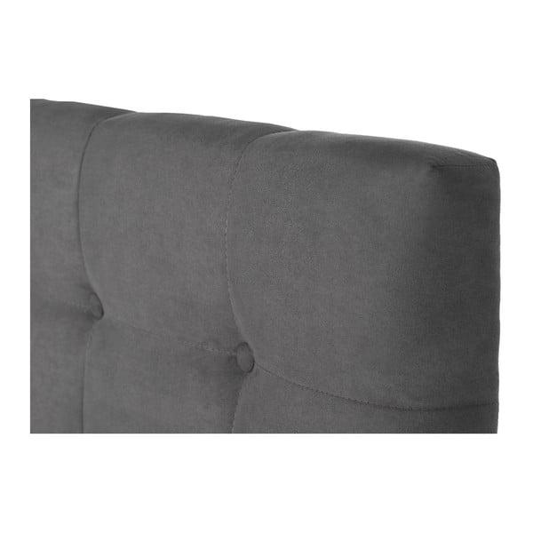 Šedá postel s matrací Stella Cadente Syrius Saches, 140x200cm