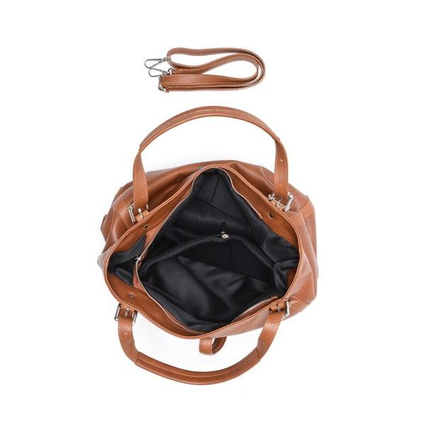 Koňakově hnědá kožená kabelka Isabella Rhea Eva