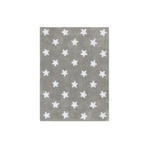 Šedý bavlněný ručně vyráběný koberec Lorena Canals Stars, 120x160cm