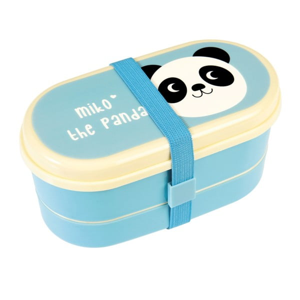 Modrý obedový bento box Rex London Miko The Panda