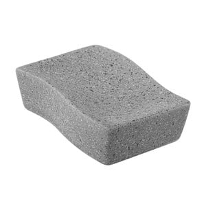 Hnědá podložka pod mýdlo Feridras Sapone Big Stone