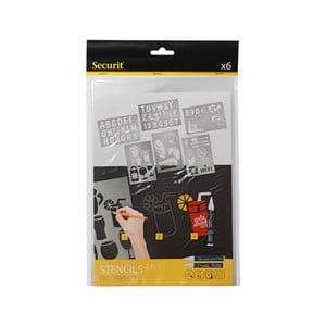 Set 5 șabloane Securit Liquid Stencil Art