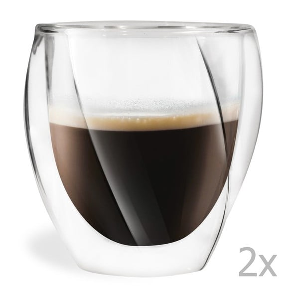 Lora 2 db-os duplafalú pohár szett, 250 ml - Vialli Design