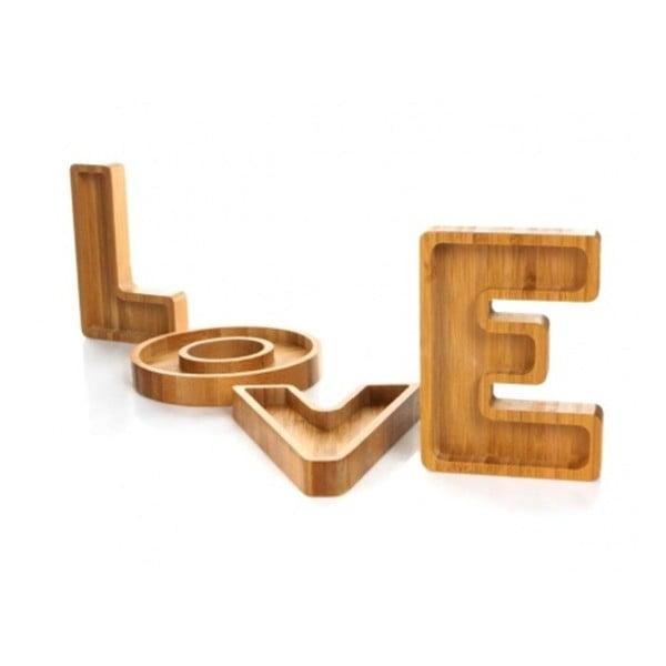 Sada 4 misek Bambum LOVE