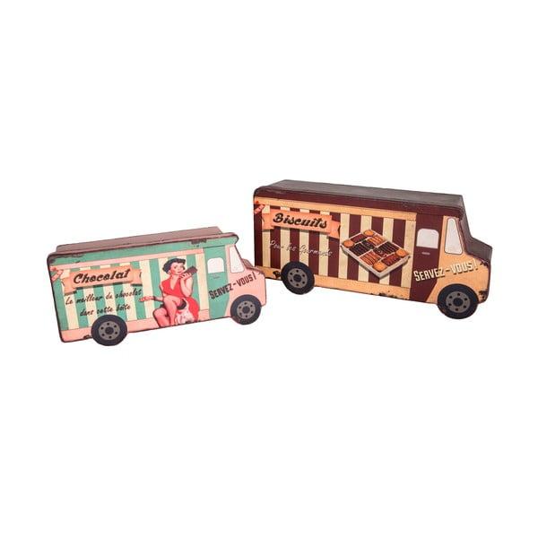 Sada 2 boxů Antic Line Biscuit Van