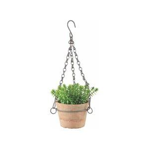 Terakotový závěsný květináč Ego Dekor, výška 8,3 cm