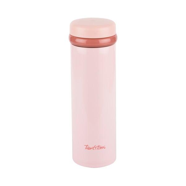 Jasnoróżowy nierdzewna butelka termiczna Tantitoni Cool, 350 ml