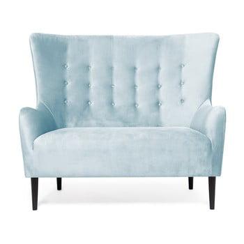 Canapea cu 2 locuri Vivonita Blair, albastru deschis de la Vivonita
