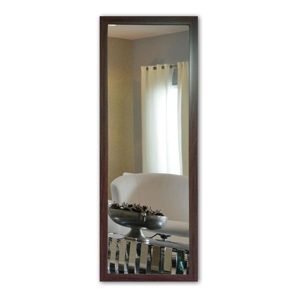 Nástěnné zrcadlo s hnědým rámem Oyo Concept, 40 x 105 cm
