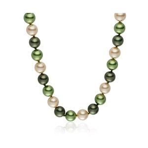 Zelený perlový náhrdelník Pearls Of London Mystic, 45 cm
