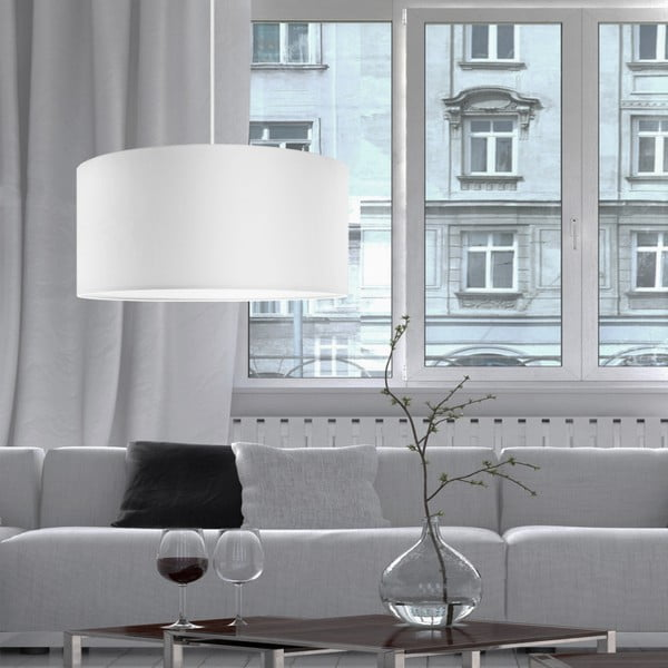 Bílé závěsné svítidlo Bulb Attack Tres, ⌀ 50cm