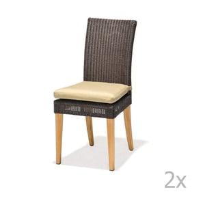 Sada 2 zahradních židlí s podsedákem LifestyleGarden St. Lucia