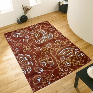 Hnědý koberec Webtappeti Pastel Leaves, 160x230cm