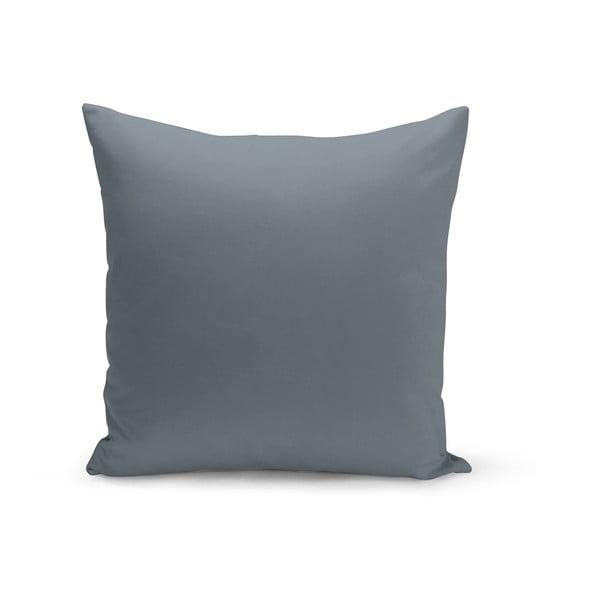 Szaroniebieska poduszka Lisa, 43x43 cm