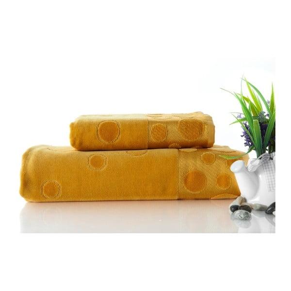 Sada 2 osušek Tropical Mustard, 50x90 cm a 70x140 cm