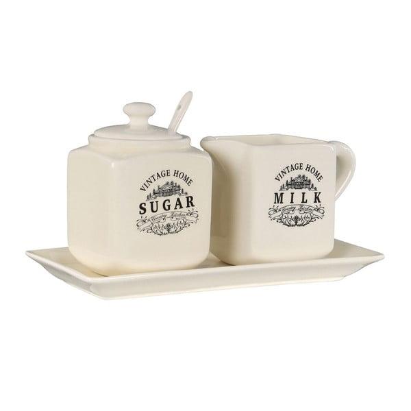 Vintage Home kerámia cukortartó és tejkiöntő szett - Premier Housewares