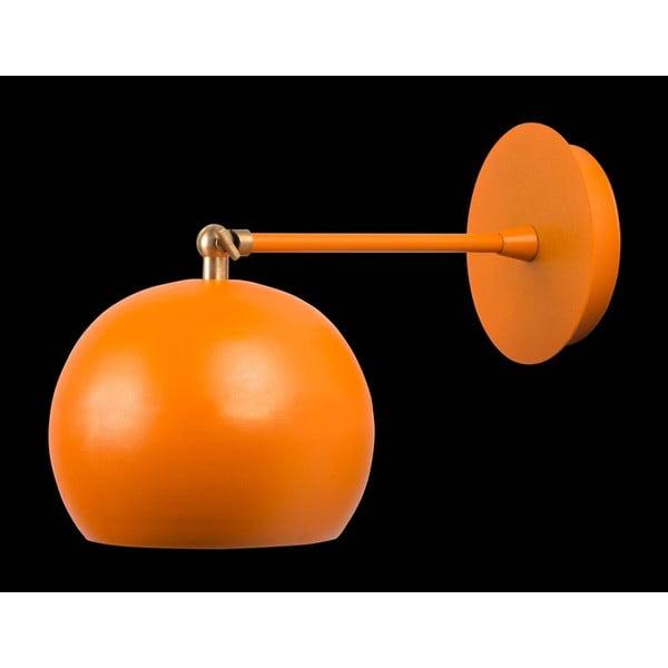 Oranžové nástěnné svítidlo Cup