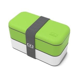 Zeleno-bílý obědový box Monbento Original