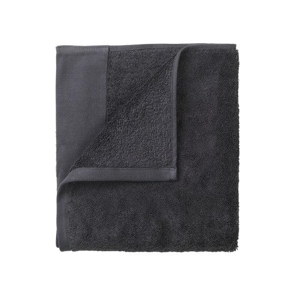 Sada 4 tmavě šedých ručníků Blomus. 30x30cm