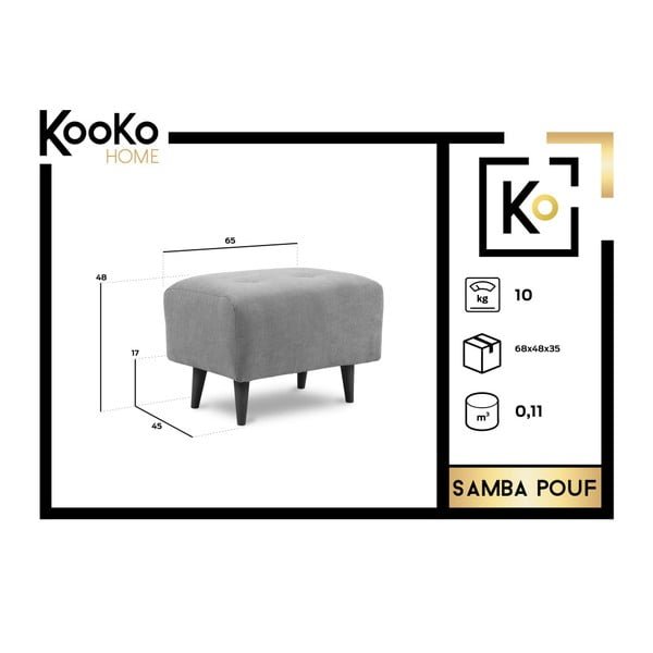 Šedá podnožka Kooko Home Samba