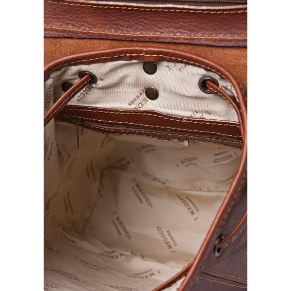 Hnědý dámský batoh ztelecí kůže Medici of Florence Ester
