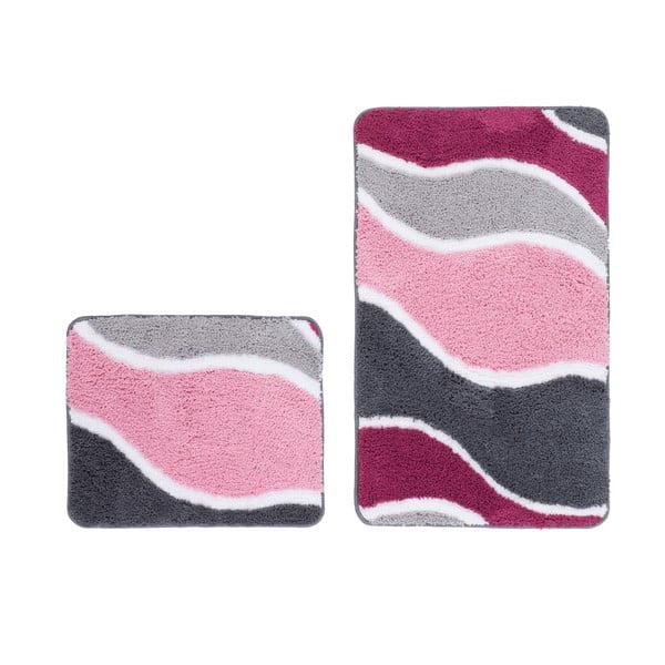 Sada 2 koupelnových předložek Lift Pink