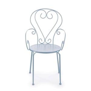 Světle modrá zahradní židle Ina